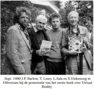 presentatie vr-boek in 1990