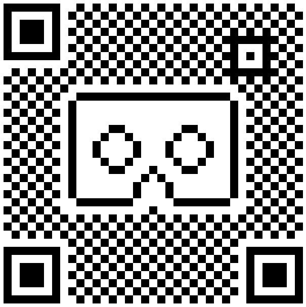 Cardboard QR code