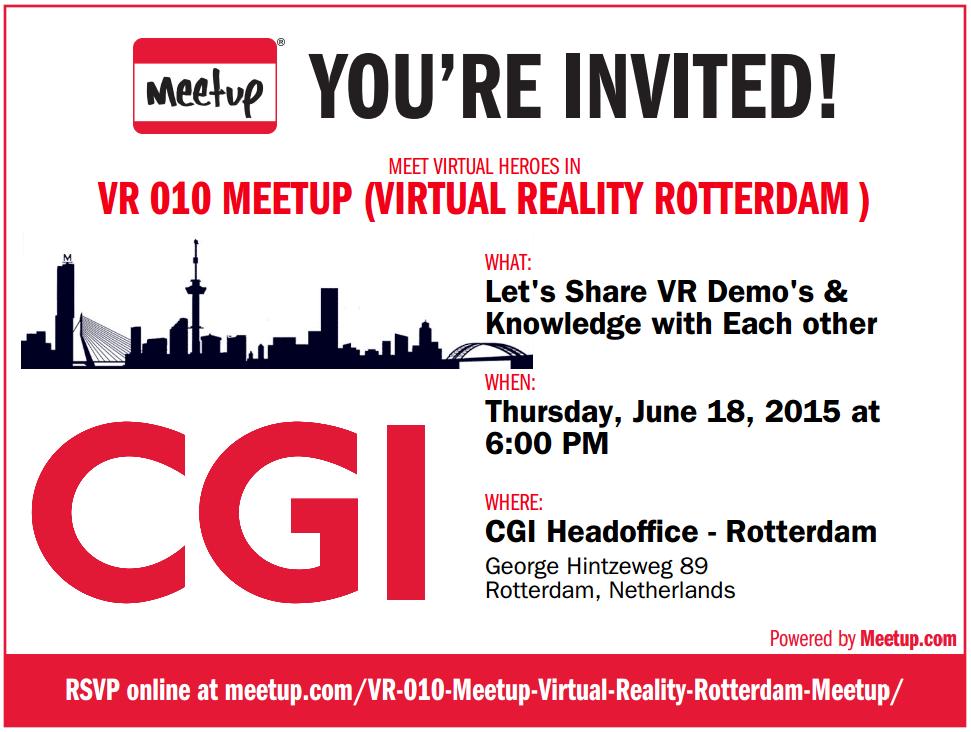 Vr-meetup HQ CGI Rotterdam